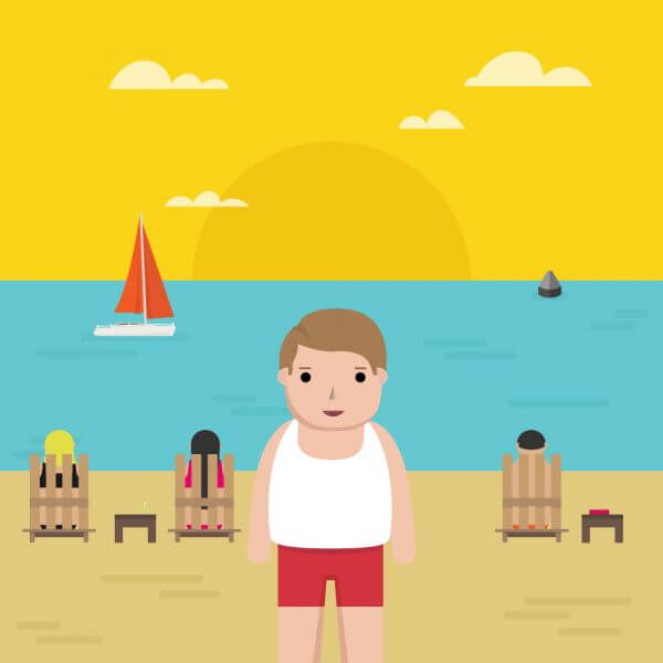 Man in the Beach vector