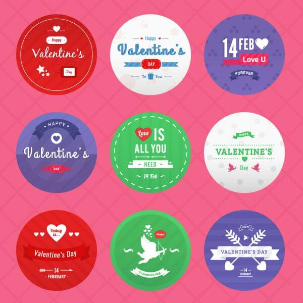 Valentine's Day Icon Pack vector