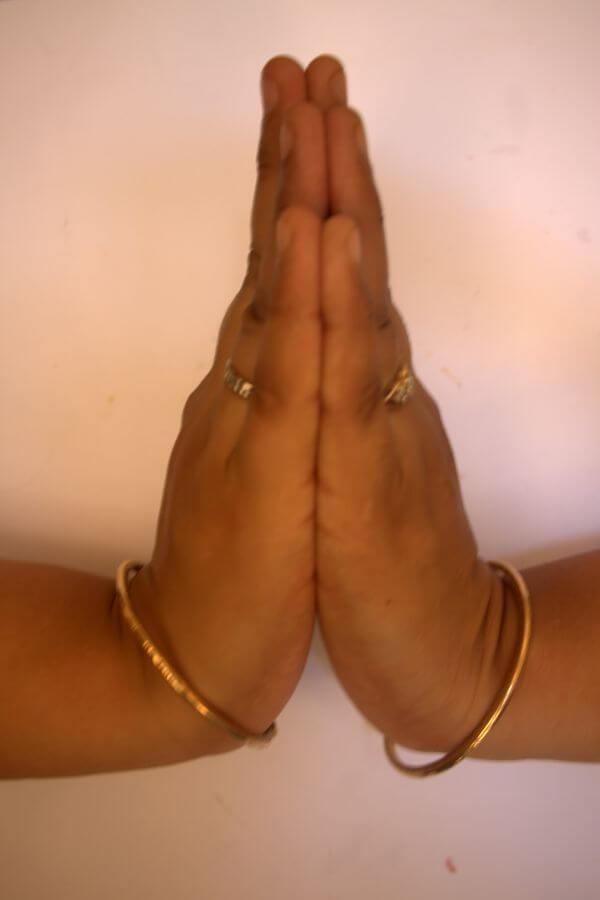 Hands Folded Prayer photo