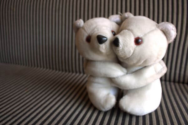 Teddy Bear Couple Hug photo