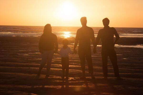 Family Beach Sunset photo