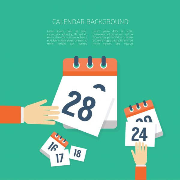 Vector Calendar Background vector