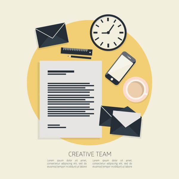 Flat design vector illustration concept icons set of business working elements for office vector