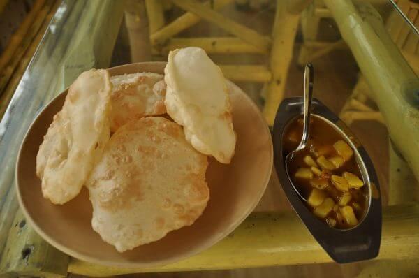 Indian Food Puris Hot photo