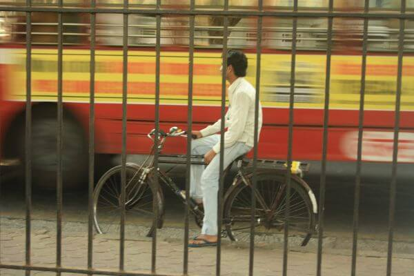 Mumbai Street Scene Cycle photo