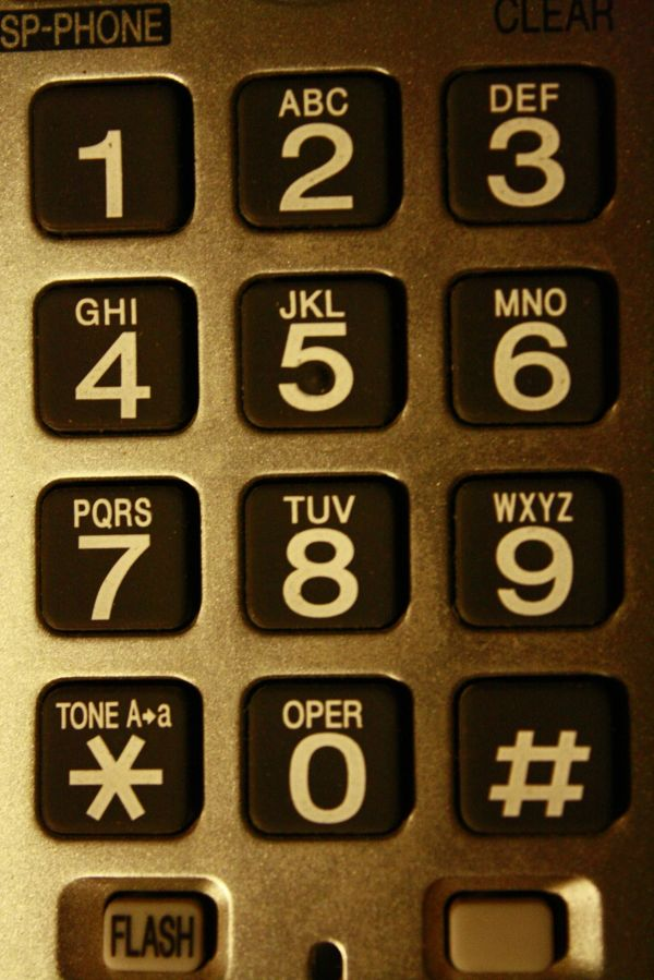 Cordless Phone Buttons Closeup photo