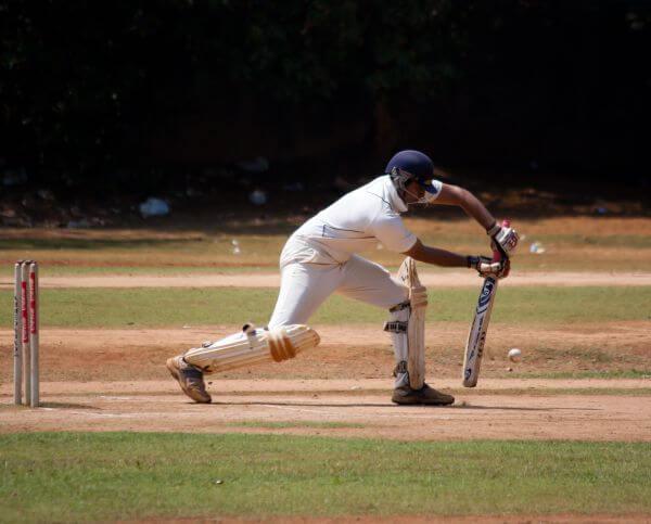 Cricketer Batting photo