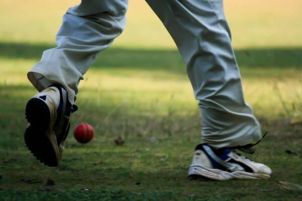 Fielder Red Ball Cricket photo