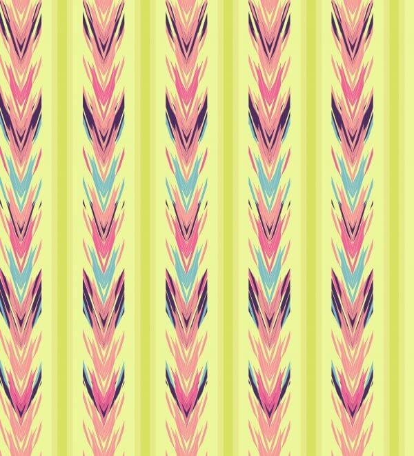 Ethnic seamless striped pattern vector