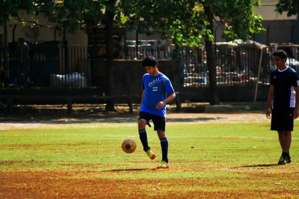 Soccer Ball Player Practise photo