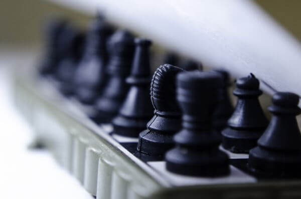 Chess Board Angle View photo