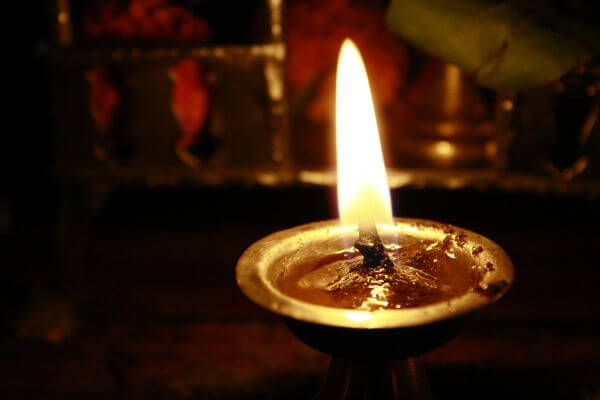 Diya Oil Lamp Hindu Prayer photo