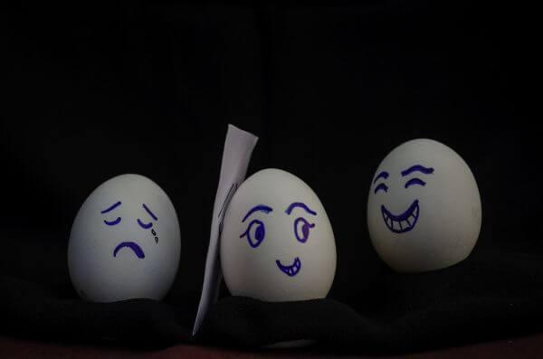 Eggs Happy Sad Cry photo