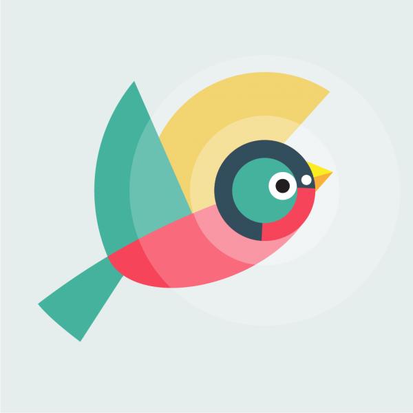 Geometrically stylized Bird vector