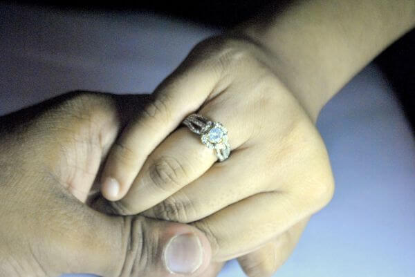 Couple Hands Ring photo