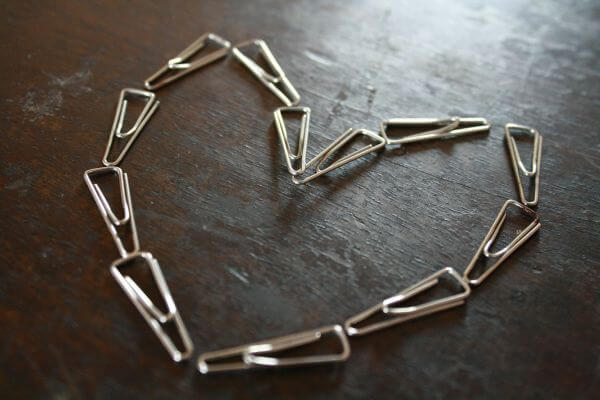 Heart Made With Pins photo