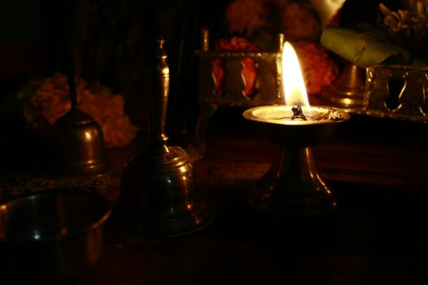 Hinduism Lamp Ceremony photo