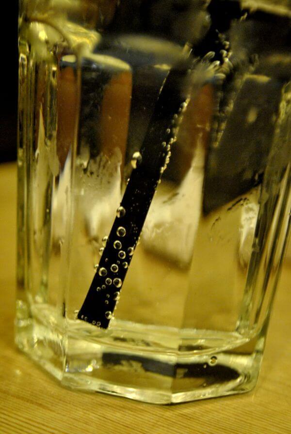 Fizzy Glass Straw Drink photo