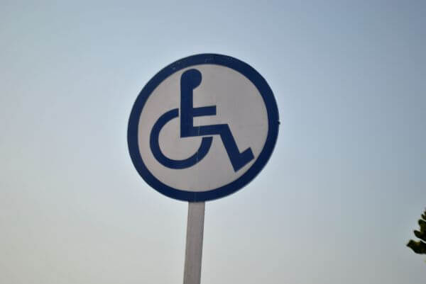 Handicapped Sign Wheelchair photo