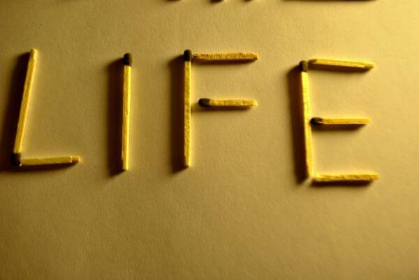 Life Text Matchsticks photo