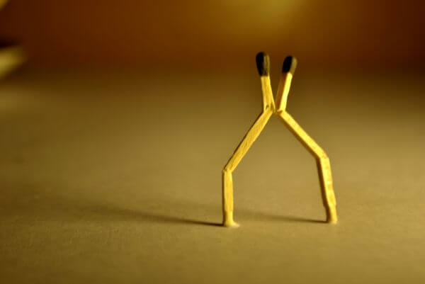 Matchstick Two People photo