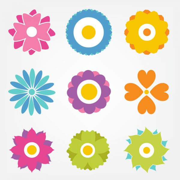 Flower vector set vector