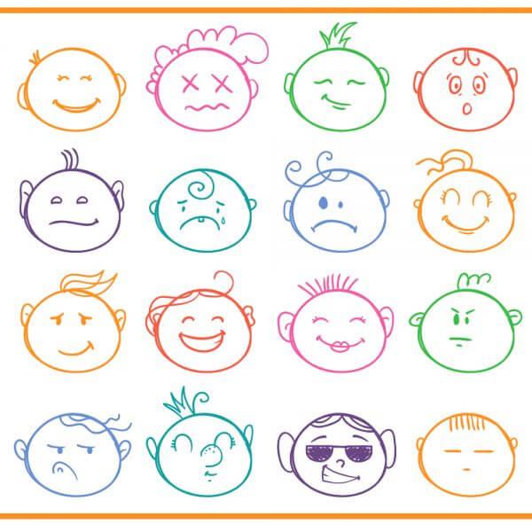 Face expressions vector set  vector