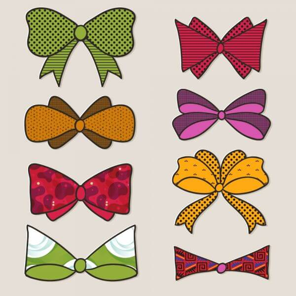 Bow vector set  vector
