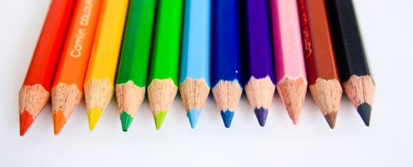 Colored Pencils Rainbow photo