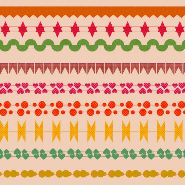 Cute border vector set  vector