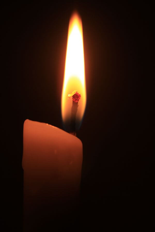 Single Candle Flame photo