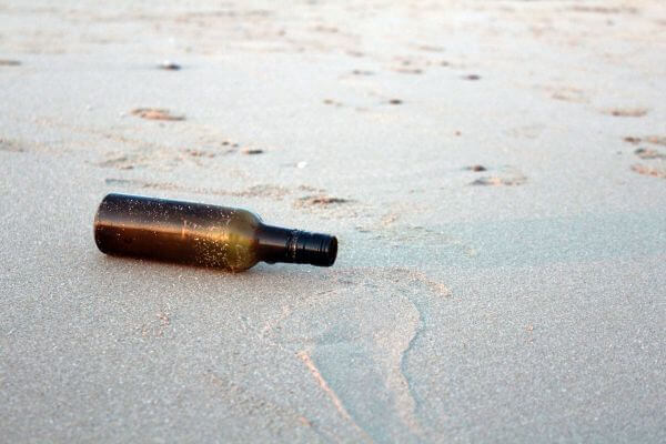 Beach Bottle Shore Waves photo