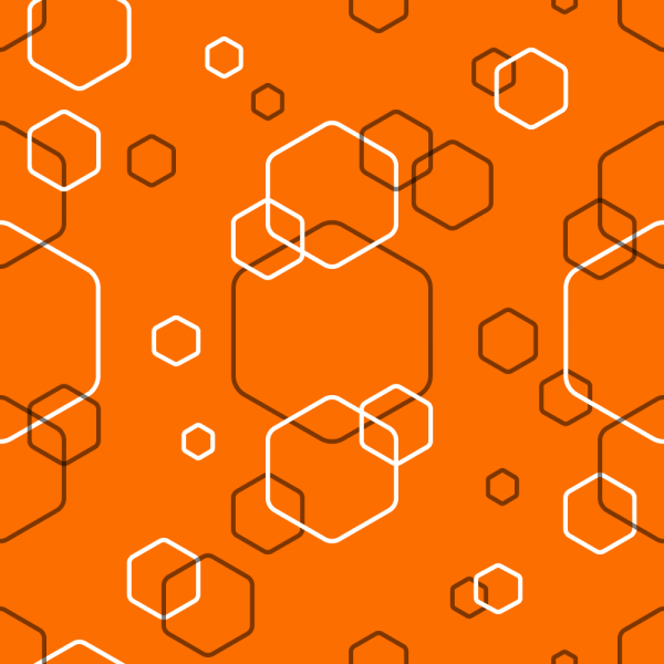 Orange Abstract Hexagonal Pattern vector