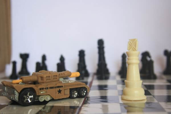 Toy Car In Chess Board photo