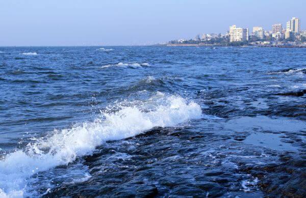 Sea Waves Mumbai Coast photo