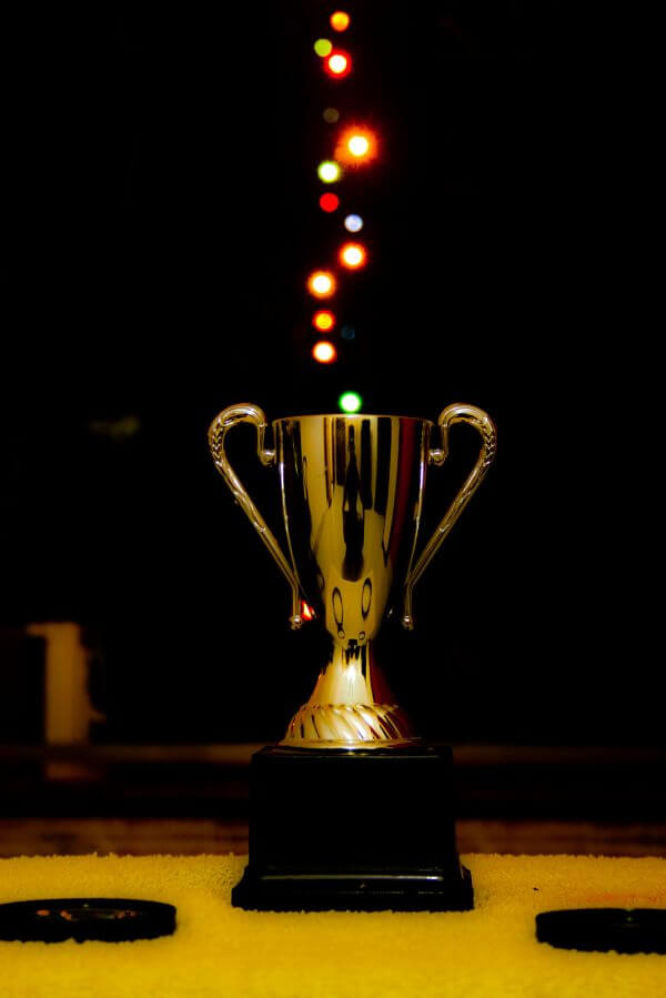 Bokeh Lights Award Trophy photo