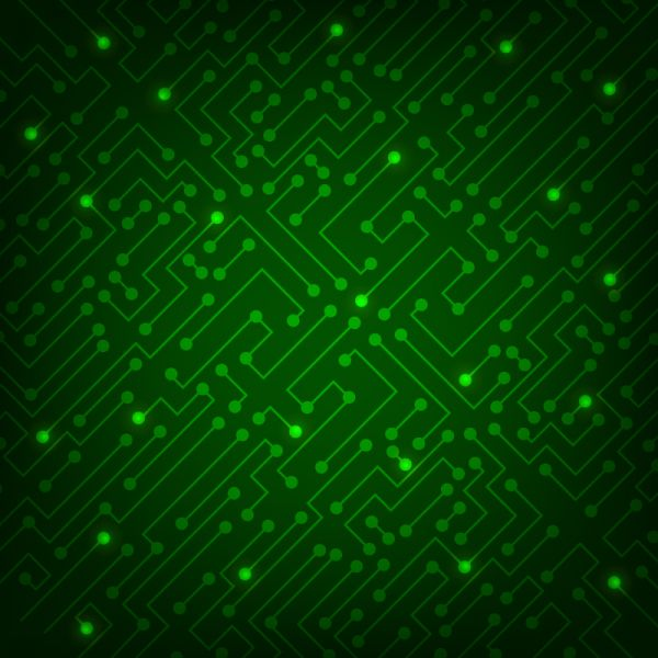 High tech abstract green background vector