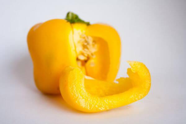 Cut Bell Pepper Yellow photo