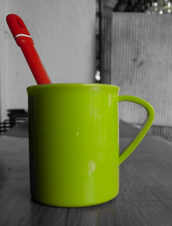 Green Cup Spoon Red photo