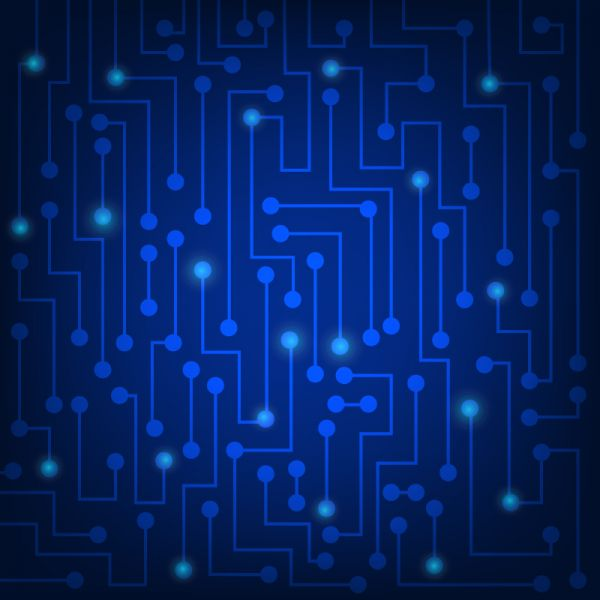 High tech blue abstract background vector