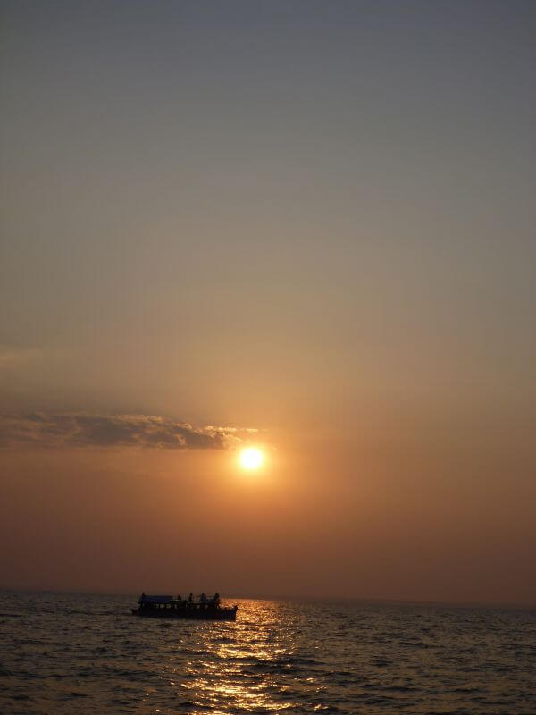 Beautiful Sunset Boat photo