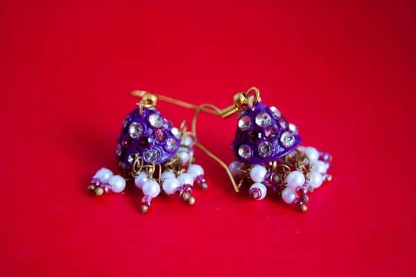 Earrings Blue photo