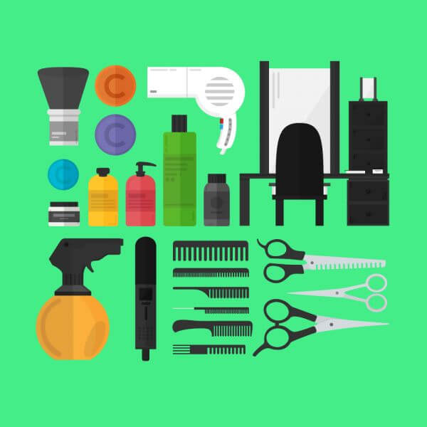 A Hairdresser's Toolset vector