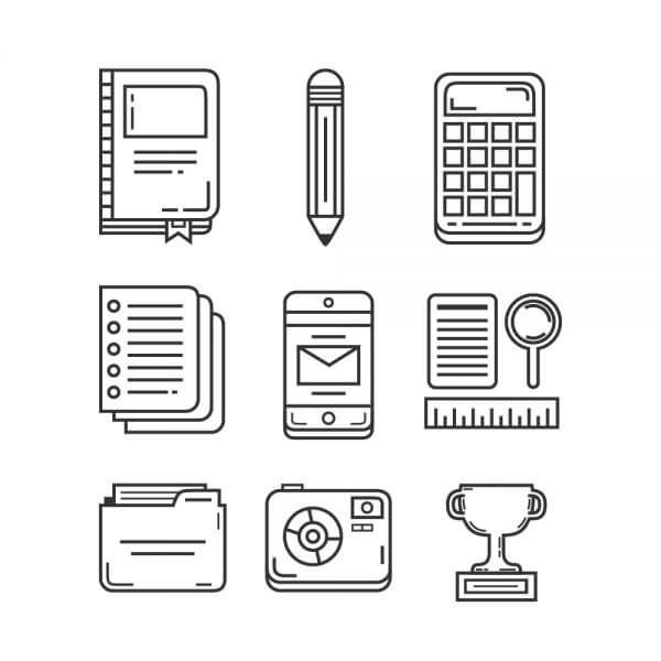 Education and Research Icon Pack vector
