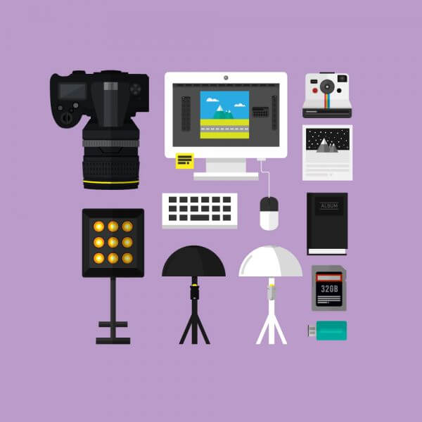 Essential Photograpy Toolset vector
