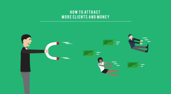 Attract More Clients Illustration vector