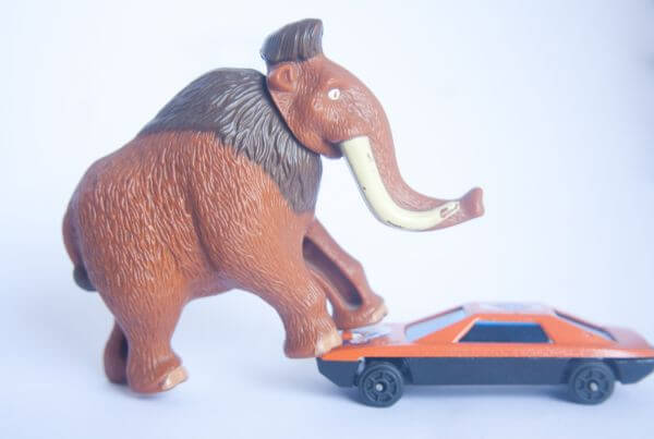 Mammoth Toy With Car photo