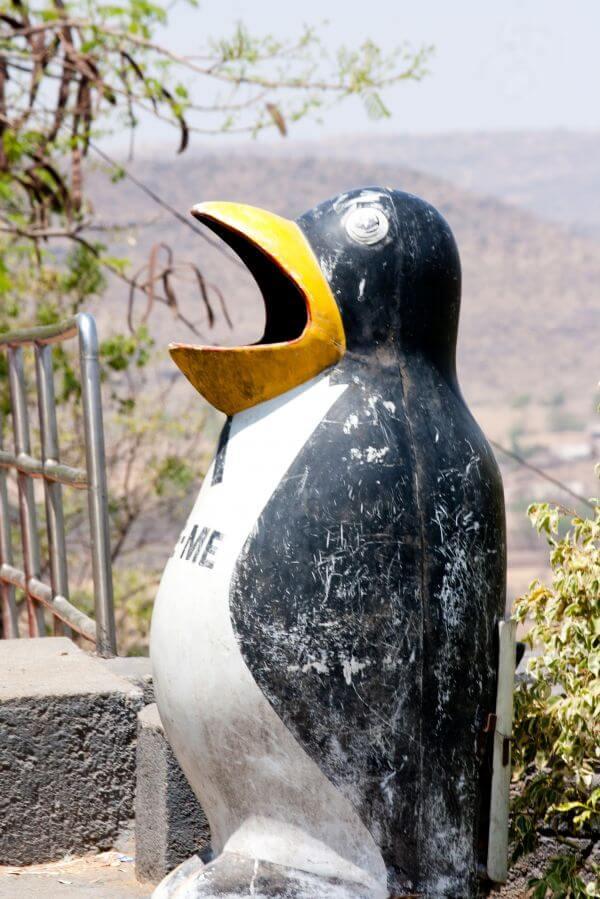 Penguin Shaped Dustbin photo