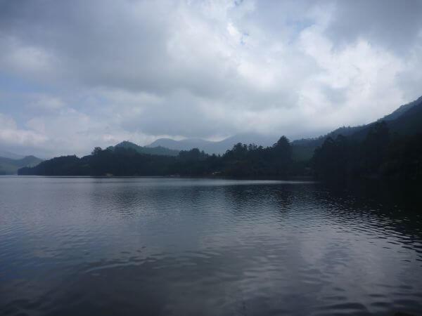 Mountains Lake Clouds photo