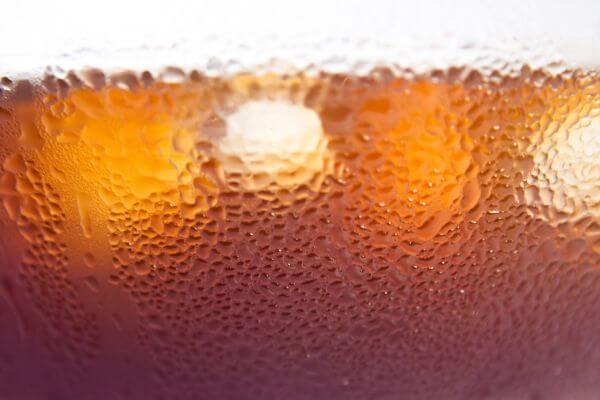 Cola Drink Ice Closeup photo